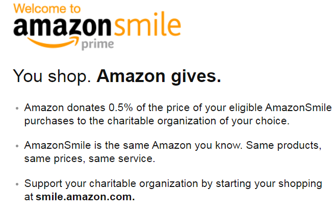 Shopping Amazon Smile will donate a portion of your purchases to Blackshear!